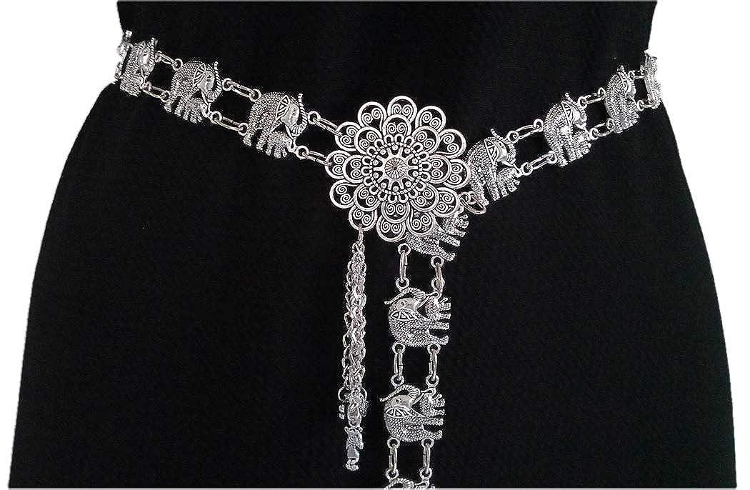 40 Fashion Dress Belt Full Metal Waist Chains Silver Tone Adjustable