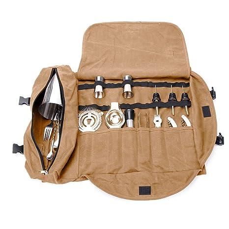 Amazon.com: Kit de bartender bolsa de mano, portátil grande ...