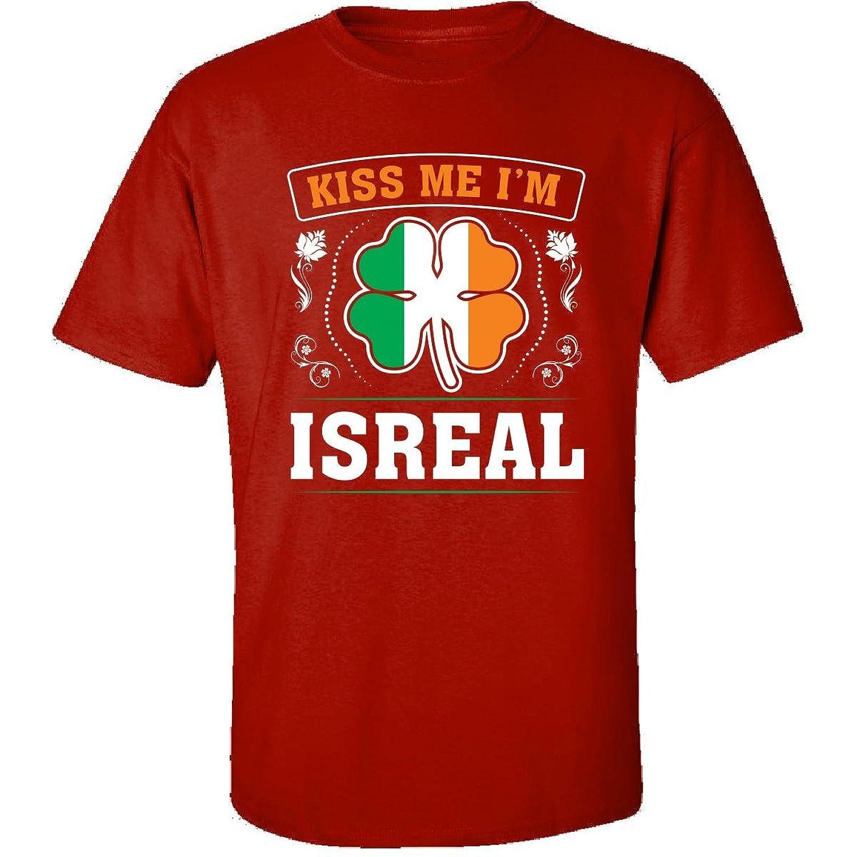 Kiss Me Im Isreal And Irish St Patricks Day Gift - Adult Shirt