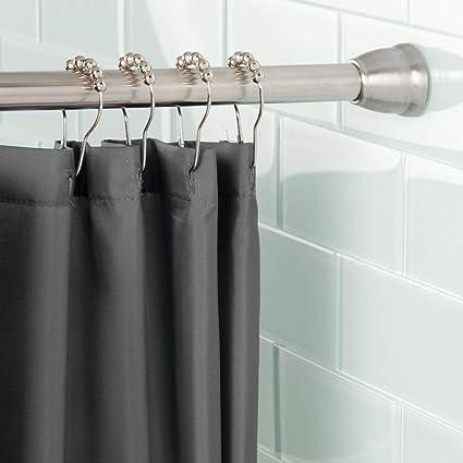 mdesign tringle a rideau sans percer technologie constant tension barre de douche extensible barre de douche facile a monter en acier affine