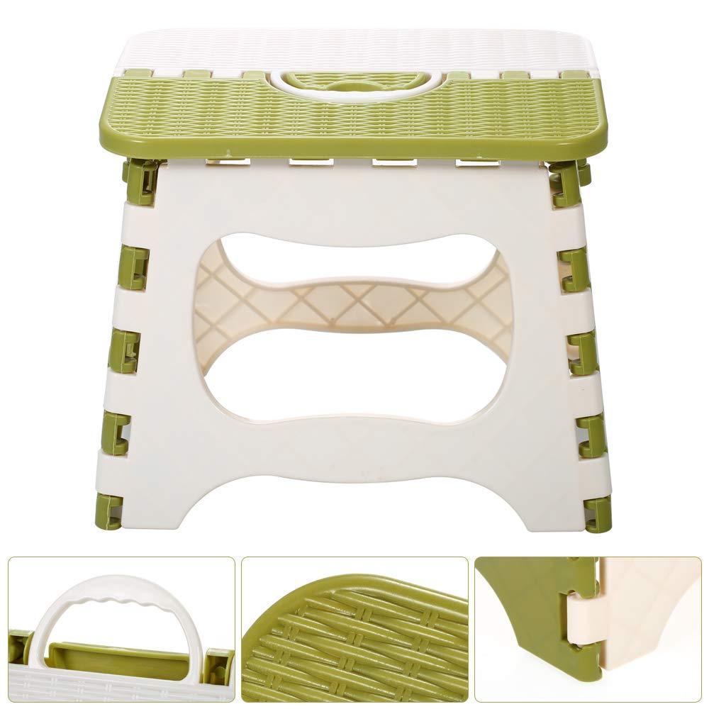 Weehey Sgabello Pieghevole Pieghevole in plastica Sedia Pieghevole Portatile Piccola Panca per Uso Domestico e per Bambini