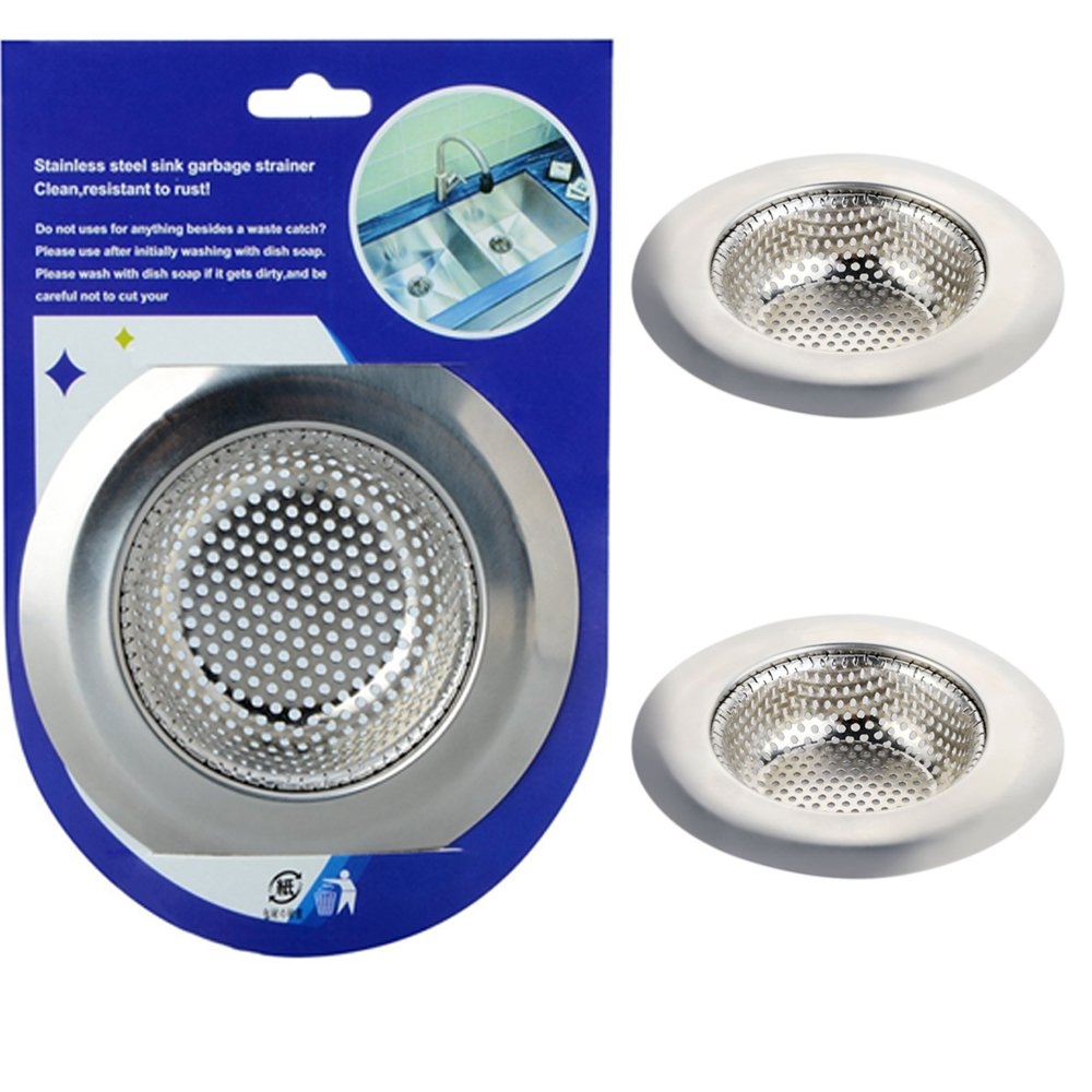 ASDOMO 2PCS Kitchen Sink Strainer - Perfect for Kitchen Sinks & Bathroom Drain Strainer (Large)