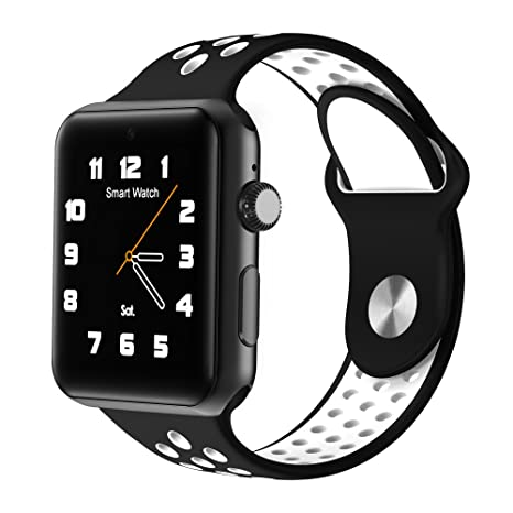 Shop Tronics24 Negro de color blanco Universal Bluetooth Smart Watch Reloj Teléfono Móvil Reloj de pulsera
