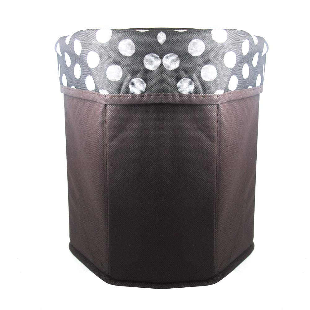 Leather&Arts 2 Pack Portable Polka dots Folding Cube Storage Organizer Ottoman Stool Box for Sofa Bed Bench Space Saving