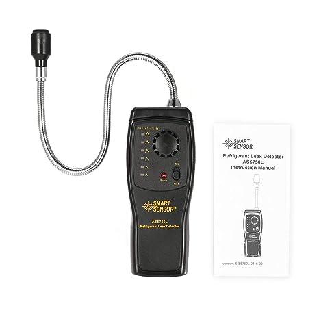 SMART SENSOR AS5750L - Detector de fugas de refrigerante halógeno Freon CFC, HCFC, HFC