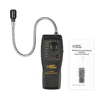 SMART SENSOR AS5750L - Detector de fugas de refrigerante halógeno Freon CFC, HCFC, HFC, analizador de gas, monitor de aire acondicionado: Amazon.es: Coche y ...