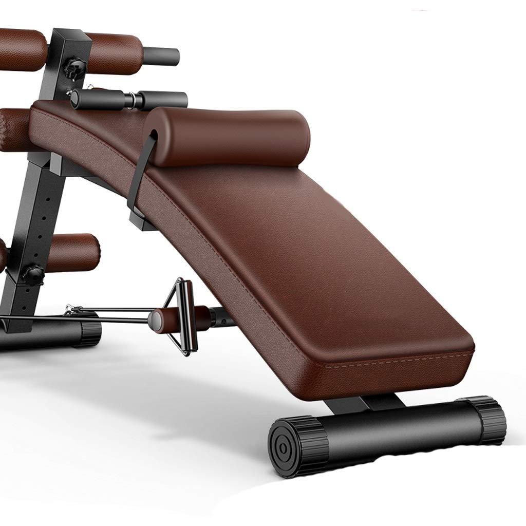 調整可能なユーティリティベンチは、ABのベンチワークアウト、フルボディワークアウトのためのウェイトベンチを座って、ジムの傾きは、パッドの運動装\u200b\u200b置 (色 : Brown) B07JM3RB44 Brown Brown