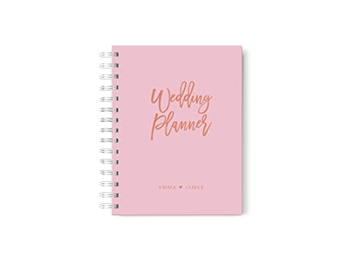 Amazon Com Pink Wedding Planner Rose Gold Wedding Planner Book Personalized Wedding Planning Book 6 X 9 Inches Handmade