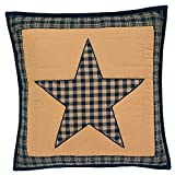 Teton Star Primitive Country Patchwork Quilted Pillow Cover 16'' x 16''