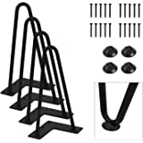 "Orgerphy 8"" Black Heavy-Duty Hairpin Coffee Table Legs (4PCS) 