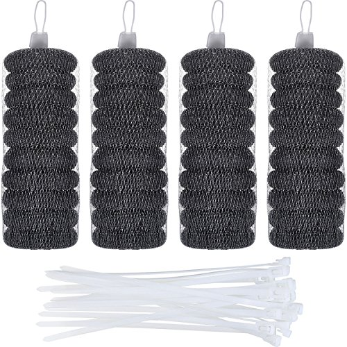 Price comparison product image Hotop 40 Pack Lint Traps with 40 Pack Nylon Cable Ties for Washing Machine