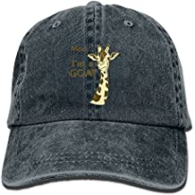 PWLLS Unisex I'm A Goat Giraffe New Dad Cap Adjustable Hat For Outdoor Baseball Cap