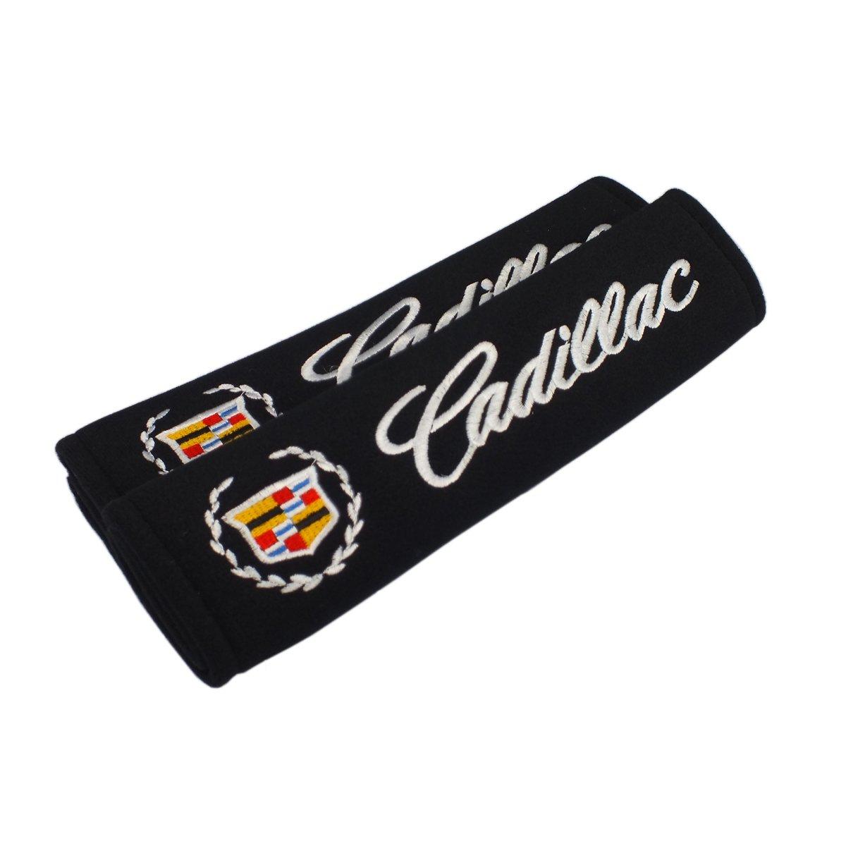 New 1pcs Cadillac Keychain Lanyard Badge Holder 2pair New Cadillac Seat-belt Shoulder Pads