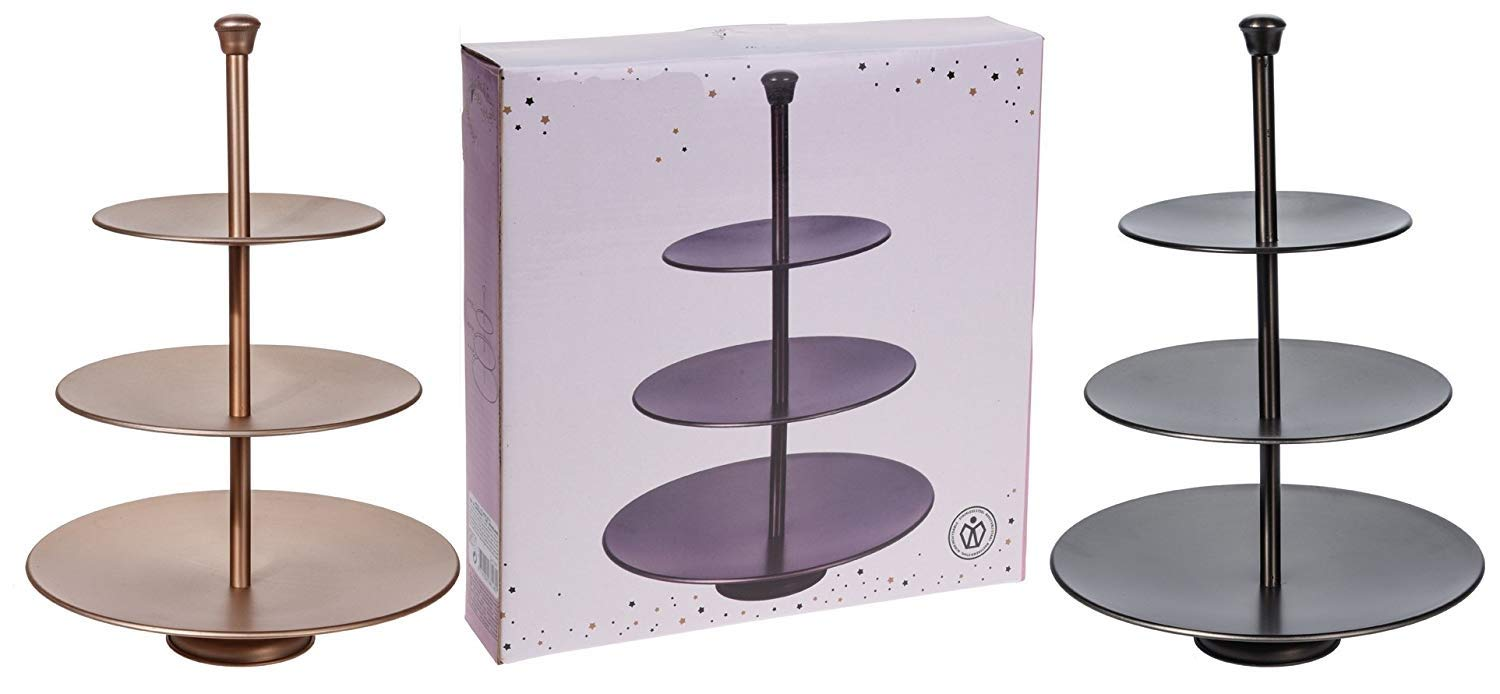 3 Layers Food Stand Stand/Paries,Gathering,Guests Collapsible Plates for Cupcake Or Candy Made Black Color S&S
