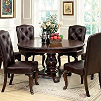 247SHOPATHOME Idf-3319RT-7PC-L Dining-Room, 7-Piece Set, Brown
