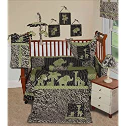 SISI Baby Boy Boutique - Animal Planet Lime 13 Pcs Baby Bedding Nursery Crib Set