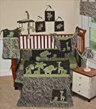 SISI Baby Boy Boutique - Animal Planet Lime 13 Pcs Baby Bedding Nursery Crib Set