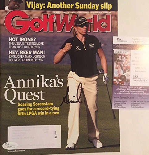Annika Sorenstam Signed Complete Golf World Magazine JSA COA - Authentic Signed Autograph - Annika Sorenstam Autographed Golf