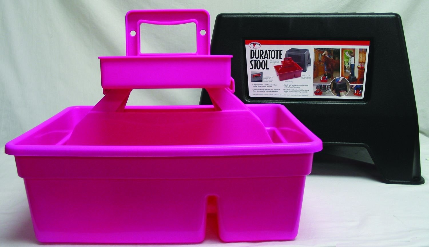 Duratote Step Stool Hot Pink Miller Mfg Co BC957479