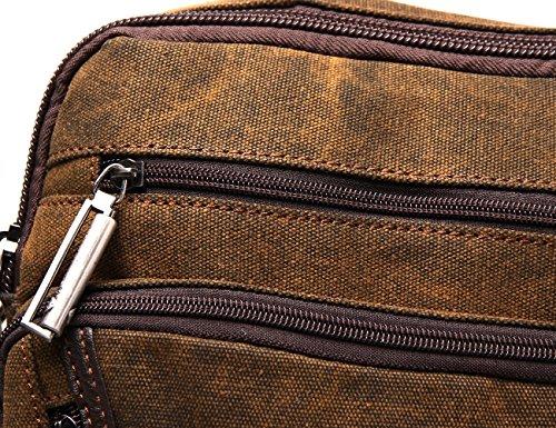 Zenness Vintage Retro Canvas Top-Griff Tasche Ipad Tablet Tasche Büro Umhängetasche