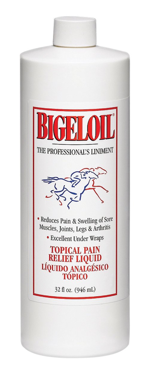 Absorbine W F Young Pet Bigeloil Topical Pain Relief Liquid for Horses, 32 oz