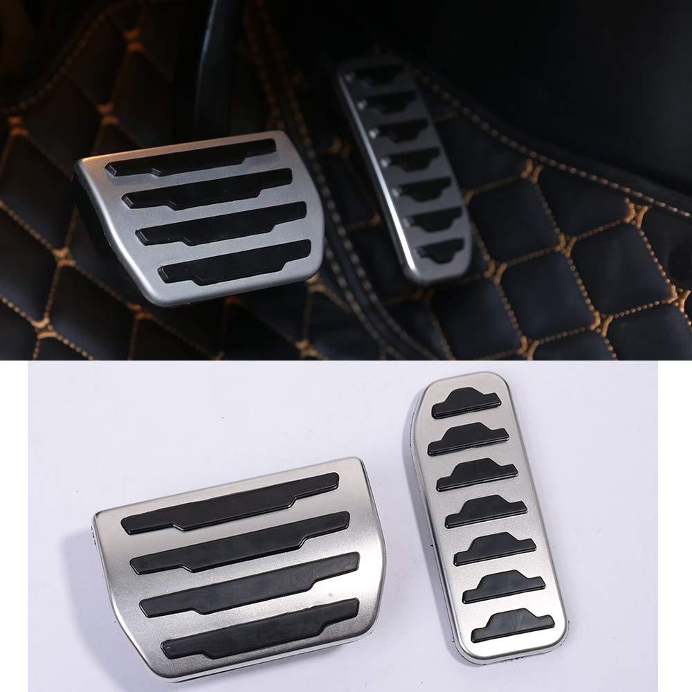 2 pezzi Copertura per pedale del freno a gas in lega di alluminio 2019 per XE F-Pace X761 accessori per auto per Discovery Sport 2015 2019 per Rangerover Evoque 2012