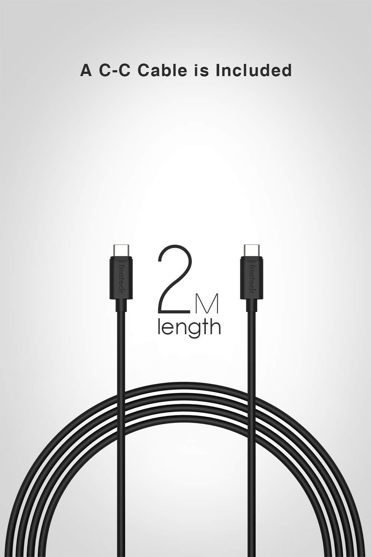 Inateck USB C Ladeger/ät mit 2 m USB C Kabel Laptops und mehr 60 W USB C Anschluss mit PD und 12 W USB Anschluss f/ür Smartphones Tablets