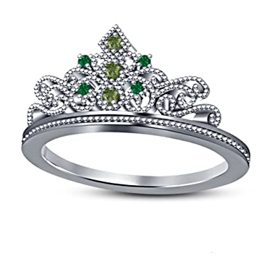 Amazon.com: DS Jewels - Anillo de compromiso y boda para ...