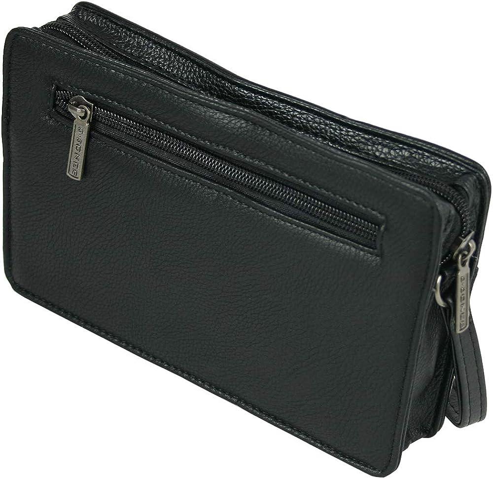 Bolso de mano con correa espacioso y c/ómodo J.Jones Pr/áctico bolso de mano para hombre