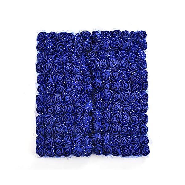 Mini-Foam-Rose-Artificial-Flower-Bouquet-Multicolor-Rose-Flower-Wedding-Scrapbooking-Decoration-Rose-Flower-Fake-144-pcs-2-cm