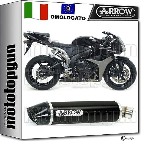 ARROW SCARICO OMOLOGATO INDY-RACE CON FONDELLO CARBY IN ALLUMINIO NERO COMPATIBILE CON HONDA CBR 600 RR 2007 07 2008 08 71712AKN