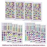 Anezus 1126Pcs Rhinestone Stickers Self-Adhesive