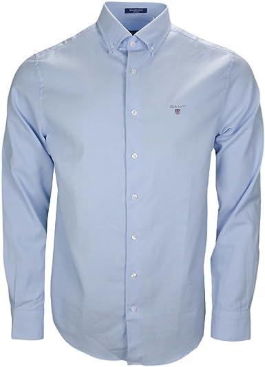 GANT Tech Prep Wool Shirt Camisa para Hombre: Amazon.es: Ropa y accesorios