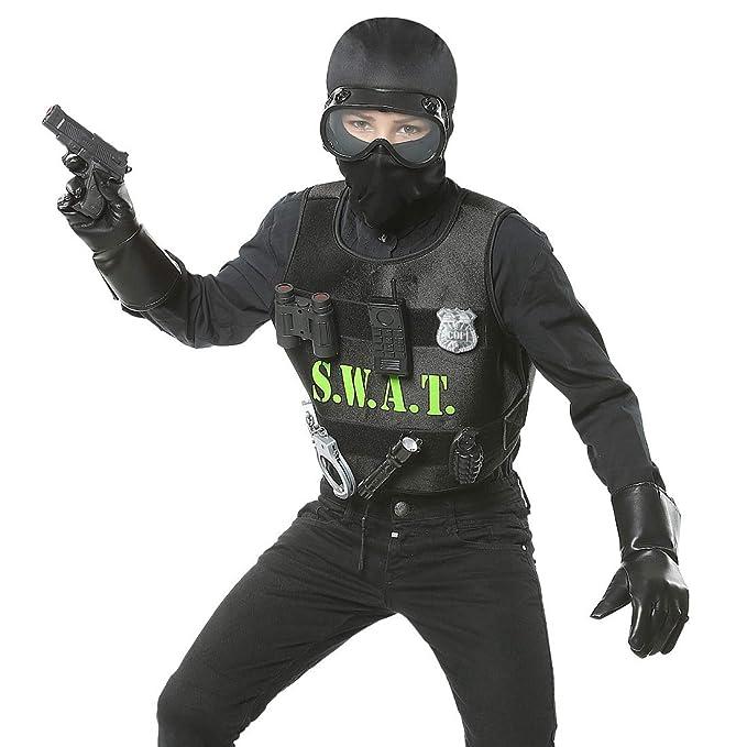 NET TOYS Emocionante Disfraz Infantil SWAT para niño - Negro ...