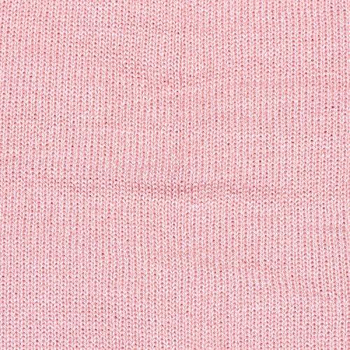 gorro slouch moderno Rosa de de clásico invierno suave beanie diseño DonDon gorro y abrigo wqAxCZ