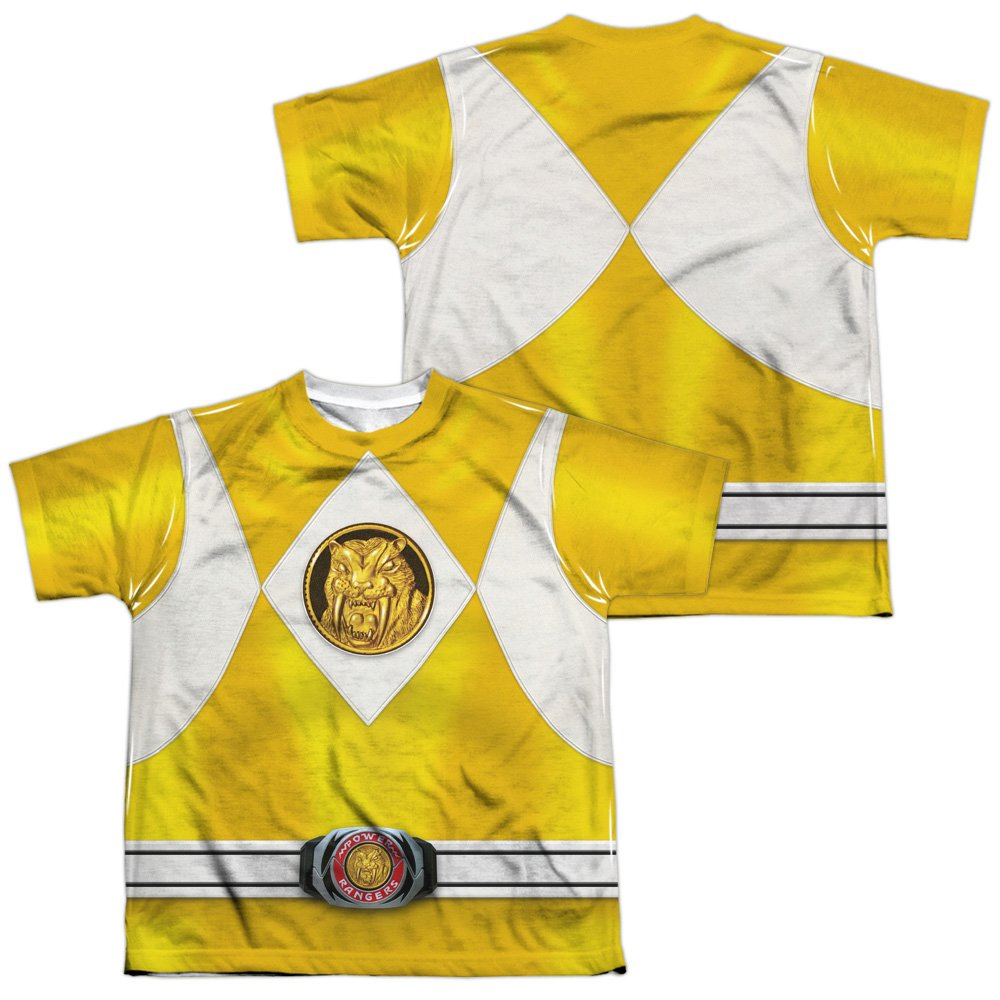 Front//Back Youth Yellow Ranger Costume All Over Print T-Shirt Power Rangers