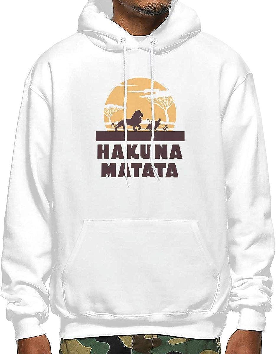 Timon-Africa-Sim-ba Mens Hooded Sweatshirt Sanda Hakuna-Matata-Pumbaa