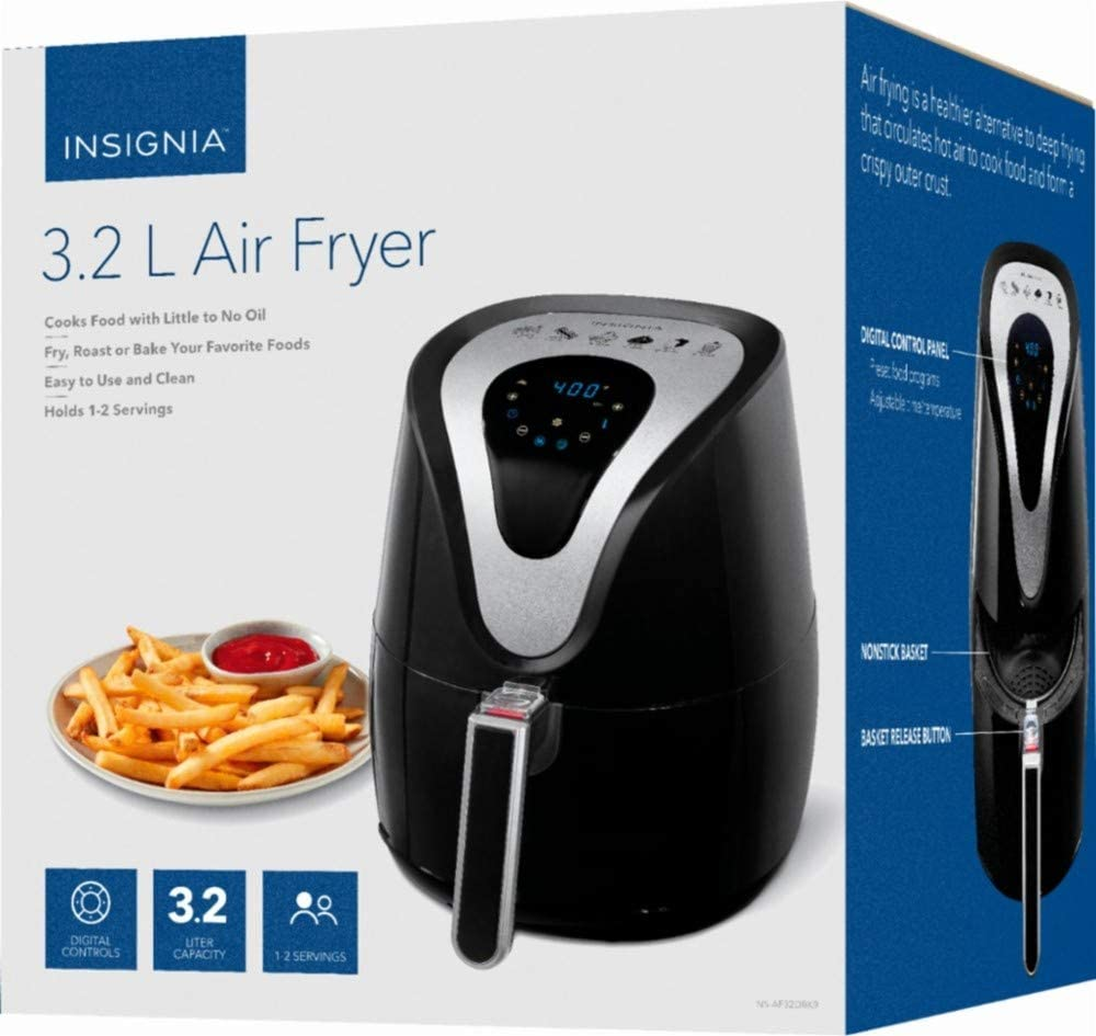 Insignia 3.2L Digital Air Fryer – Black