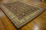 Unique Loom Kashan Collection Brown 10 x 13 Area