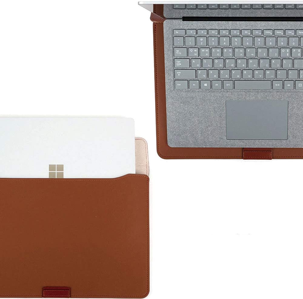 Black Micrisoft Surface Laptop3 13 /& MacBook Pro 13 Handmade Premium Leather Pouch case,Slim,Modern and Durable case BEFiNE