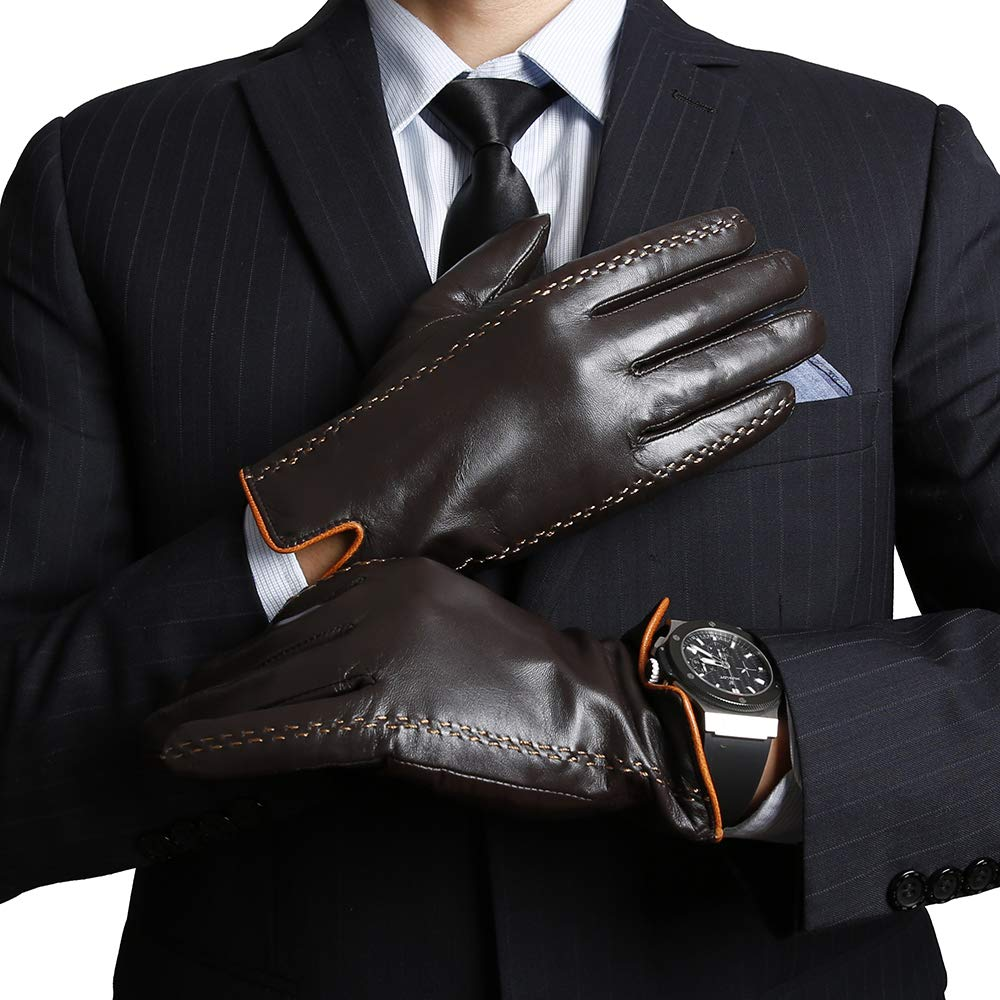 Cashmere//Wool Lining KEGE Men/'s Premium Texting Driving Touchscreen Spanish Nappa Genuine Leather Gloves
