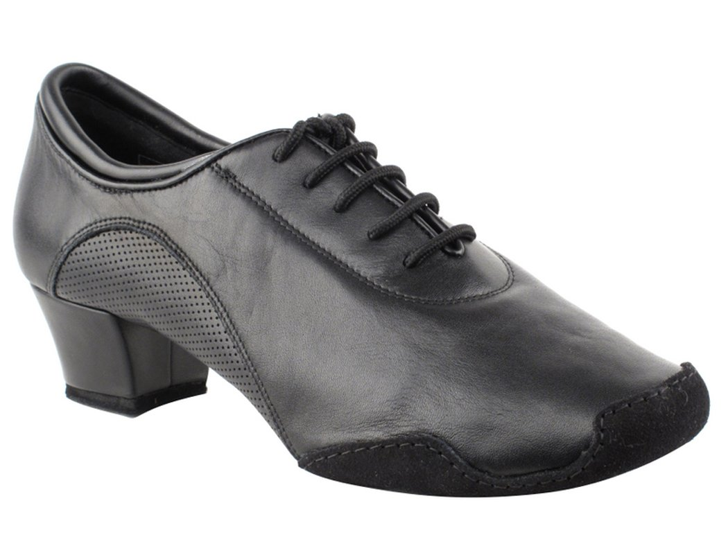 Very Fine Shoes Men's Latin & Rhythm Competitive Dancer Series CD9320 with 1.5'' Heel (11.5, Black Leather)