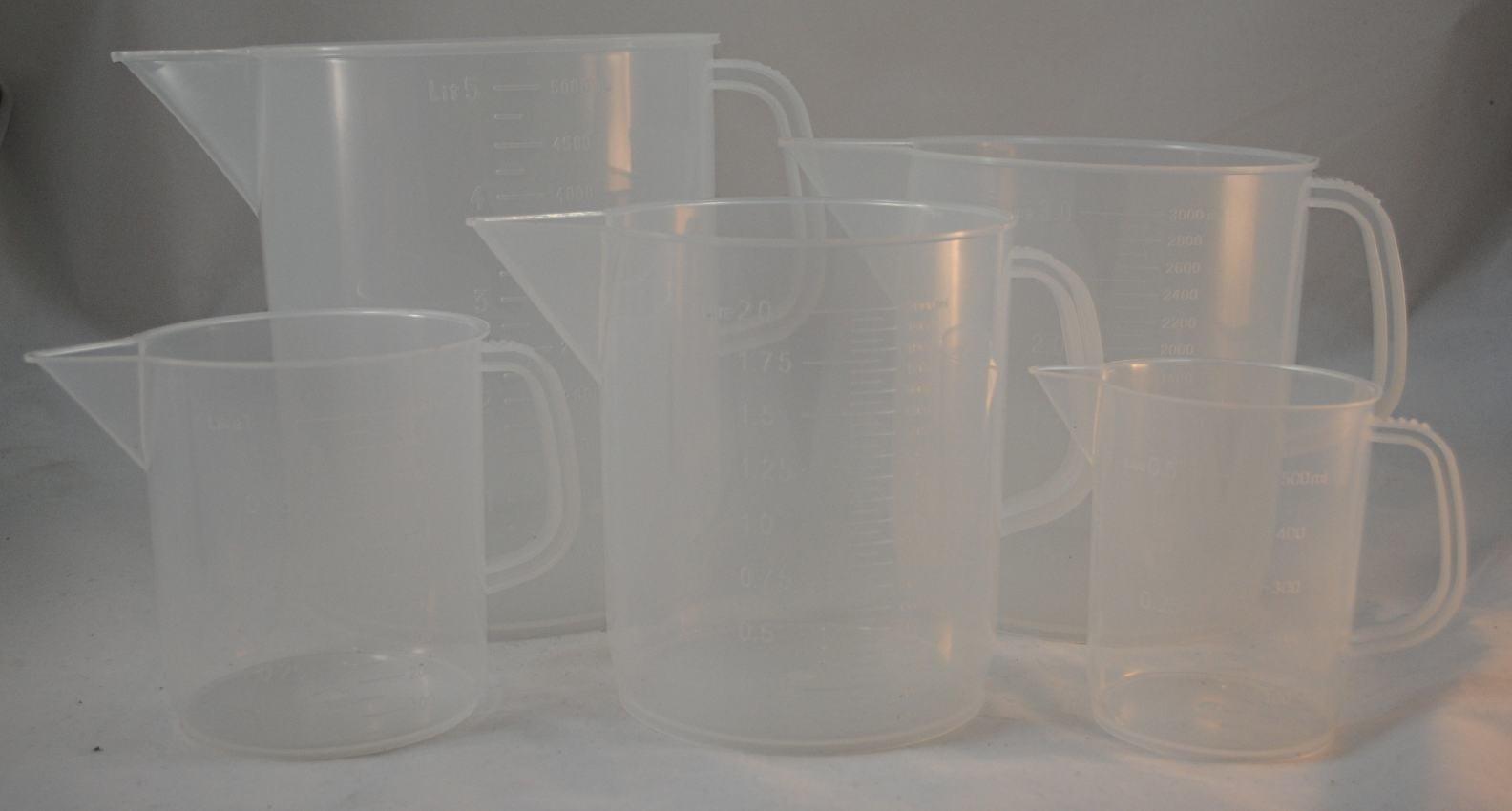 Plastic Measuring Jug Set of 5 Standard Sizes