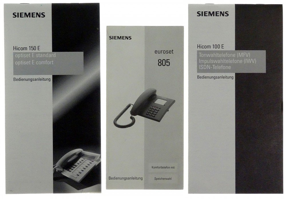 Siemens Kühlschrank Handbuch : Handbuch im schuber siemens hicom e id amazon
