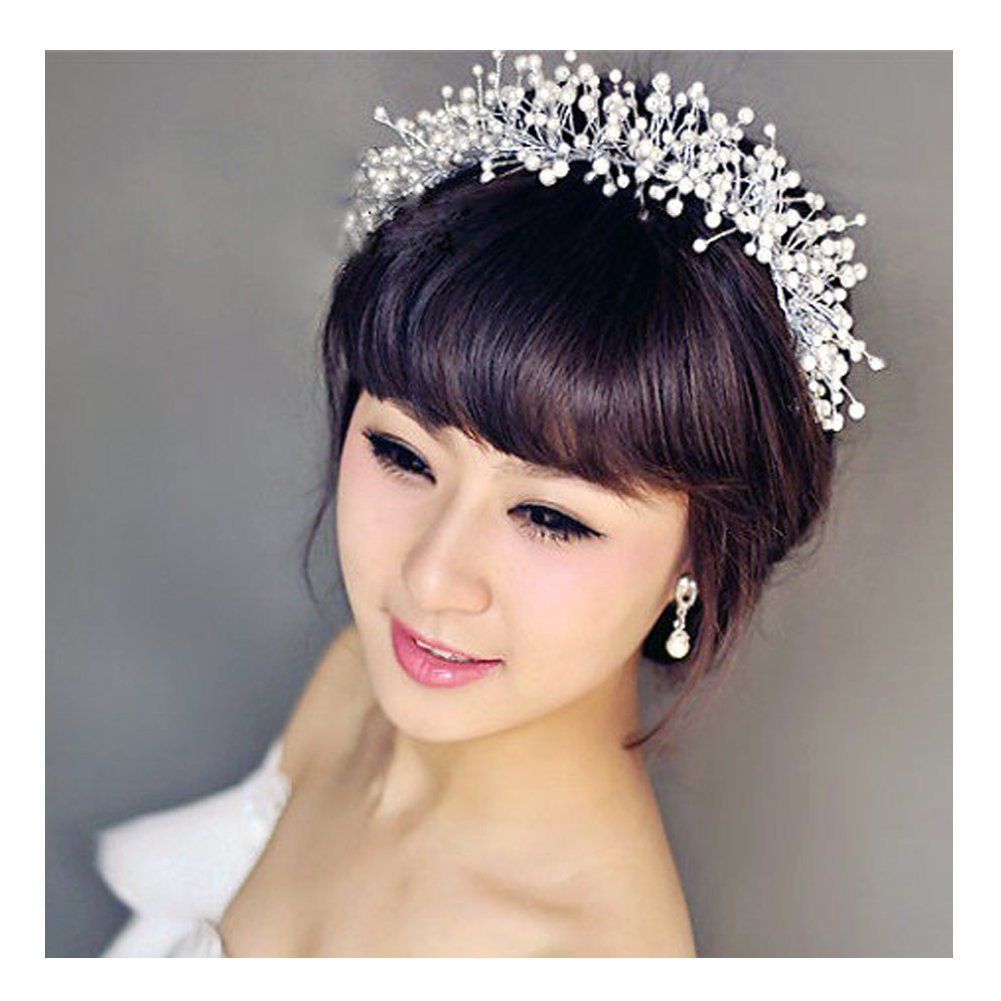 XY Fancy Hand Made Shiny Crystal Bridal Pageant Tiara Rhinestone Hair Accessories Crown Bride Prom XY FANCY-CA-2504