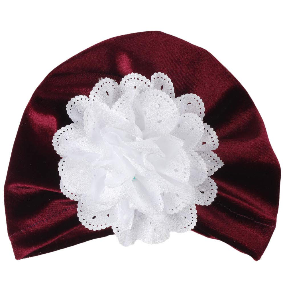Toddler Infant Baby Girls Flower Turban Hat Newborn Soft Head Wrap Strechy Hospital Knotted Hats Caps 1Pc