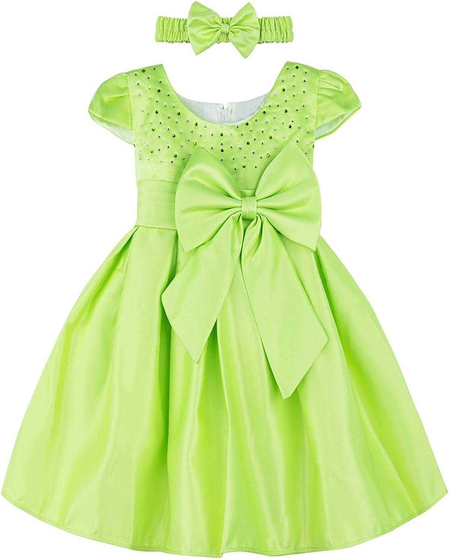 A/&J DESIGN Baby Girls Princess Dress Formal Party Dresses with Headband