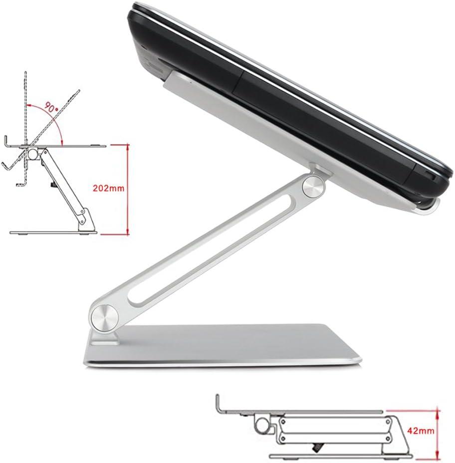 ASUS Dell Portable R/églable Support en Exquisite Alliage dAluminium Conception Ergonomique Compatible Support avec Acer HP Lenovo Tablette iPad de /Écran 7-17 Foluu Support dOrdinateur