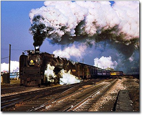 NKP Steam Engine Hudson Type 4-6-4 Train 30x40 Silver Halide Photo Print
