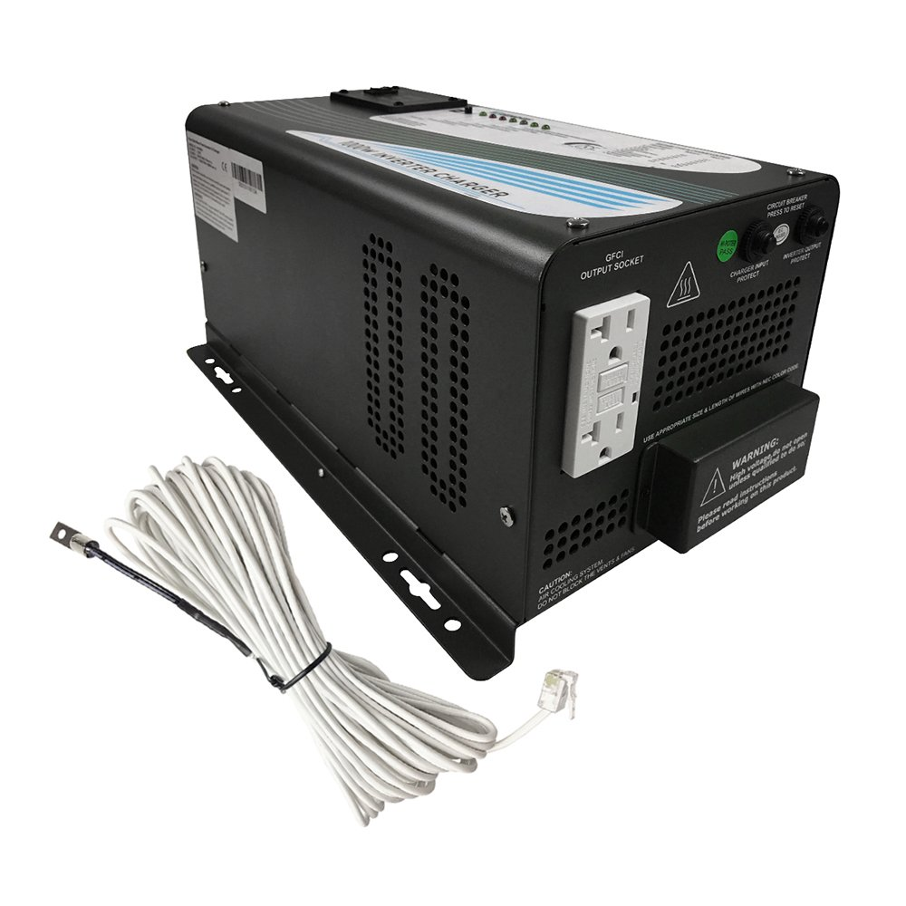 Renogy 1000Watt 12V DC to 120V AC Pure Sine Wave Inverter Charger with 2 Outlets